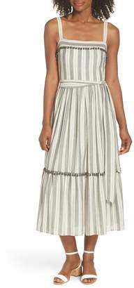 Maggy London Painted Stripe Flounce Sundress