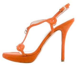 Christian Dior Ankle Strap Platform Sandals