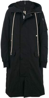 Rick Owens oversized hooded parka jacket