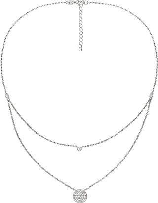 Folli Follie Fashionably circle sterling silver necklace