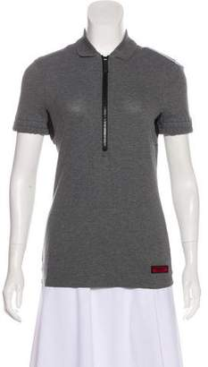 Burberry Short Sleeve Collared Top