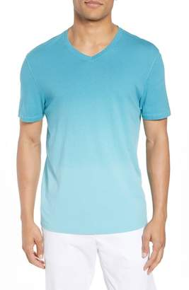 Zachary Prell Canton Dip Dye V-Neck T-Shirt