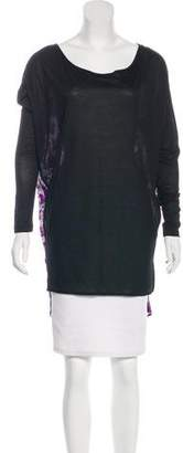 Thomas Wylde Oversize Silk-Paneled Tunic