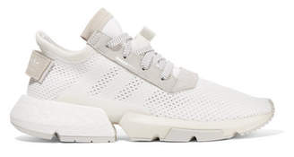 adidas Pod-s3.1 Suede-trimmed Mesh Sneakers - White