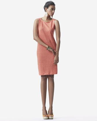 Eileen Fisher Striped Shift Jersey Dress