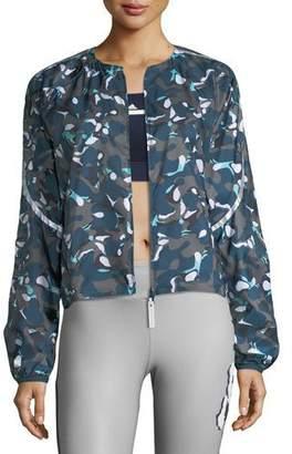 adidas by Stella McCartney Run Adizero Zip-Front Printed Performance Jacket