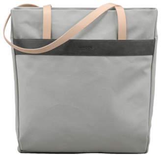 Vanook Canvas and Leather Shopper Zip Bag