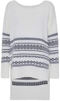 Splendid Asymmetric Intarsia-Knit Sweater