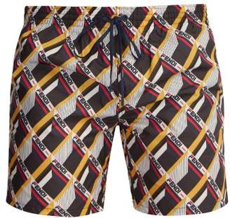 Fendi Mania Logo Print Swim Shorts - Mens - Multi