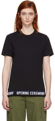 Opening Ceremony Black Elastic Logo T-Shirt