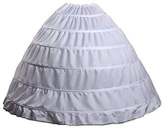 WHZZ Womens 6 Hoop Floor Length Bridal Dresses Slip Petticoat Underskirt Ball Gown