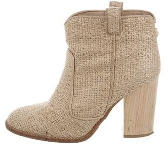 Laurence Dacade Woven Ankle Boots $200 thestylecure.com