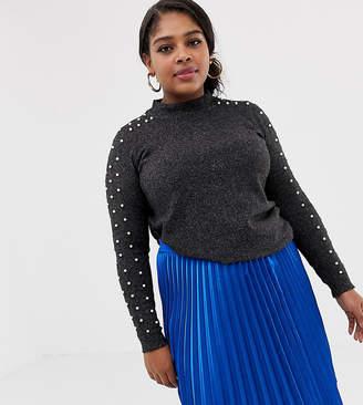 Junarose pearl detail sweater
