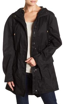Kensie Coated Hooded Jacket