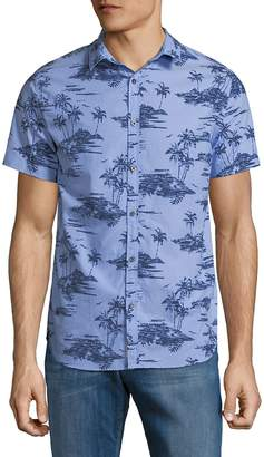 Superdry Men's Printed Cotton Button-Down Shirt