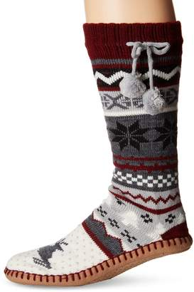 Muk Luks Women's Poms Slipper Socks
