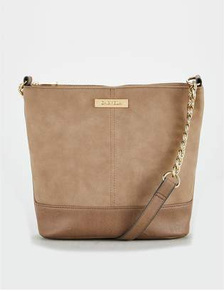 Carvela Suedette Crossbody Bag - Nude