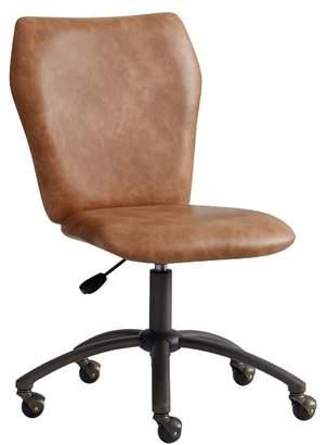 Pottery Barn Teen Cognac Faux-Leather Airgo Desk Chair, Armless