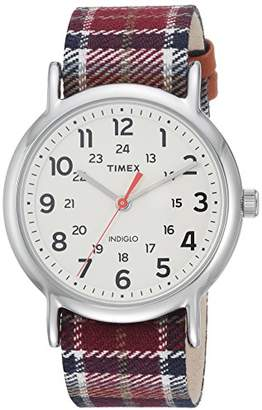 Timex Women's TW2R42200 Weekender 38 Fabric Slip-Thru Strap Watch