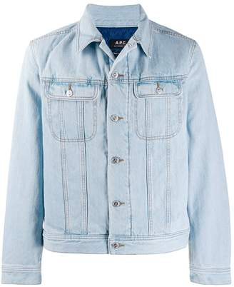 A.P.C. padded denim jacket