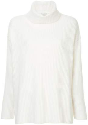 Le Kasha ribbed oversized polo neck jumper