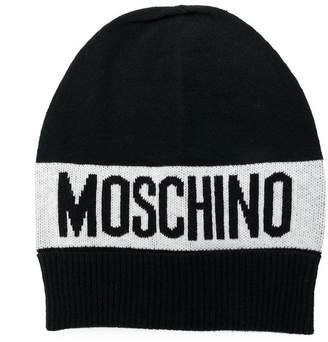 Moschino Kids knitted logo hat