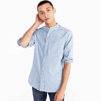 J.Crew Band-collar shirt in stretch chambray