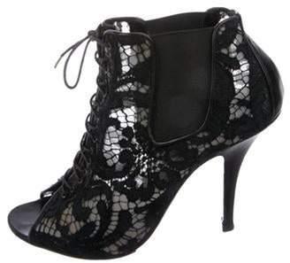Givenchy Floral Lace Boots Black Floral Lace Boots
