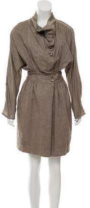 Yigal Azrouel Chambray Belted Dress