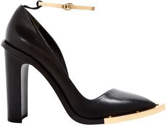 Anthony Vaccarello Black Leather Heels