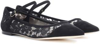 Dolce & Gabbana Lace and suede ballerinas