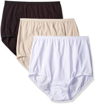 Vanity Fair Women's 3 Pack Perfectly Yours Tailored Cotton Brief Panty 15315