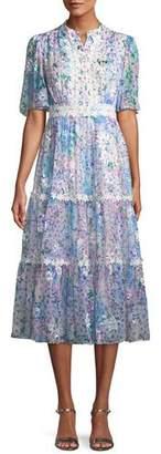 Kate Spade Daisy Garden A-Line Midi Dress