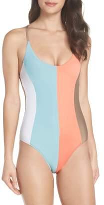 Pilyq Farrah Stripe One-Piece Swimsuit