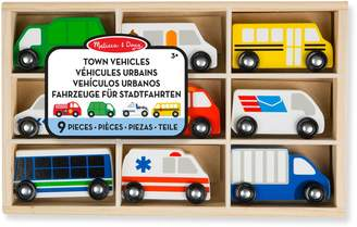 Melissa & Doug 9-Piece Town Vehicle Set