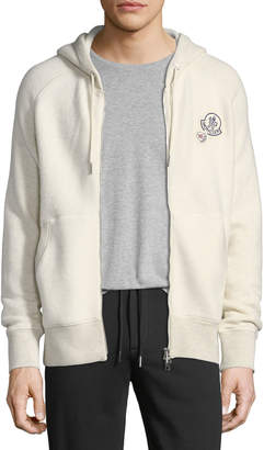 Moncler Cotton-Blend Zip-Up Hoodie