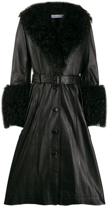 Saks Potts belted shearling coat