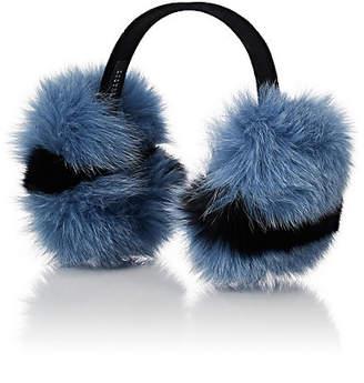 Barneys New York Women's Fox Fur Earmuffs - Blue
