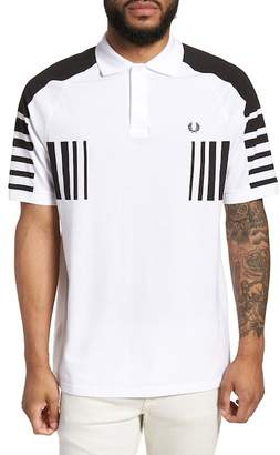 Fred Perry BLACK GRAPHIC PIQUE SHIRT