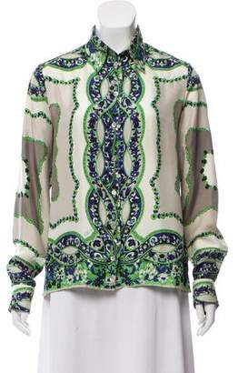 Etro Silk Button-Up Top