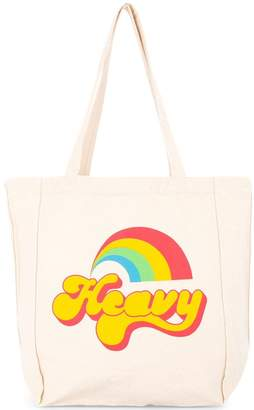 Hysteric Glamour rainbow print shopper tote