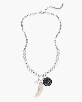 Long Crystal Charm Necklace