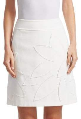 Akris Punto Laser Cut A-Line Mini Skirt