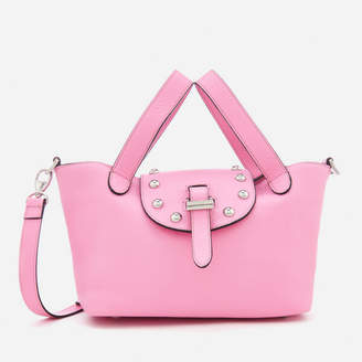 Meli-Melo Women's Thela Mini Tote Bag with Studs - Peony Pink