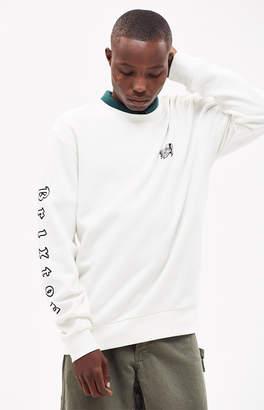 Brixton Primo White Crew Neck Sweatshirt