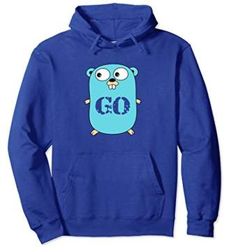 Go Logo Hoodie Blue Mascot Transparent Word Text
