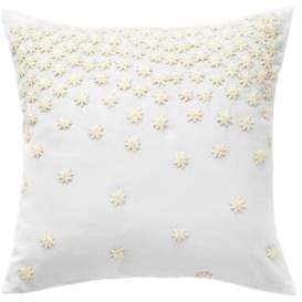 Bluebellgray Textural Embroidery Cotton Square Pillow