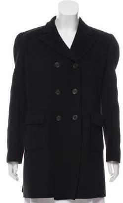 Prada Structured Wool-Blend Coat