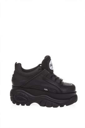 Buffalo David Bitton Black High Sneaker In Leather