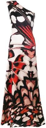 Alexander McQueen butterfly print long dress